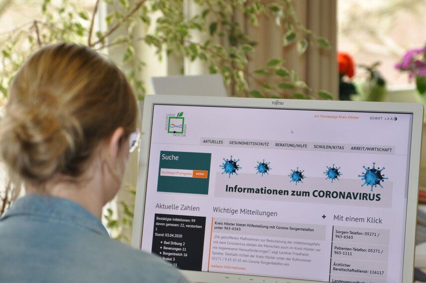 Corona-Informationen im Internet